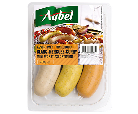 Assortiment Boudins (blanc-merguez-curry)