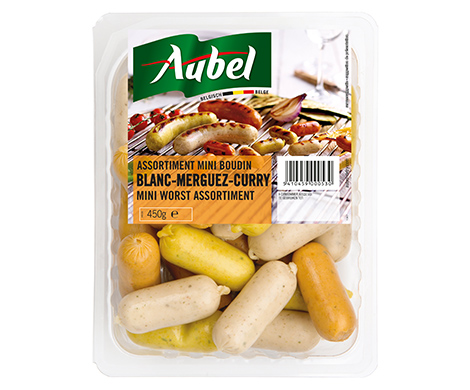 Mini boudins assortiment (blanc-merguez-curry)