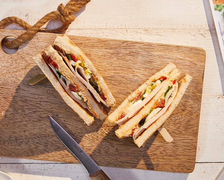Club Sandwich au filet de poulet nature
