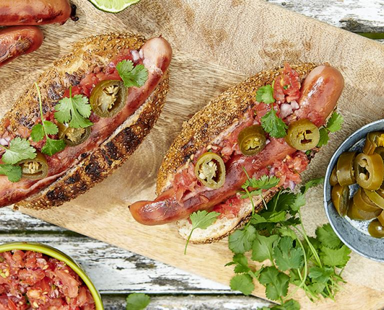 Hot dogs mexicain saucisse piquante
